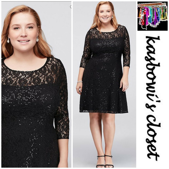 283c8c113b5c2 NWT Sophisticated Sequin Lace Dress PLUS!